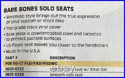 Harley Dyna Le Pera Bare Bones Smooth Solo Seat Fits 06-17 LK-001 0804-0239 J39