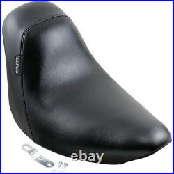 Harley Single Seat Cover Solo Le Pera Bare Bones Softail Fat Boy 06-17 Black Gel