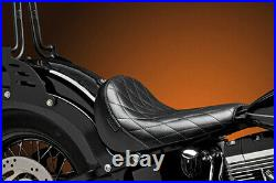 LE PERA Bare Bones Solo Seat Diamond Stich, Black Harley Dyna, Harley Softail