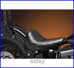 Le Pera Bare Bones Blackline Slim Seat Diamond Harley Softail Black LKS-007DM