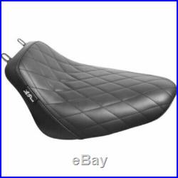 Le Pera Bare Bones Diamond Black Vinyl Solo Seat Harley 18+ Softail FLHC FLDE M8