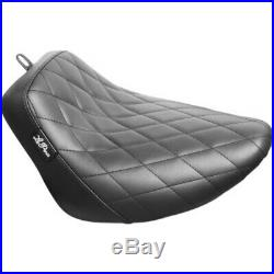 Le Pera Bare Bones Diamond Black Vinyl Solo Seat Harley 18+ Softail FXLR FLSB M8