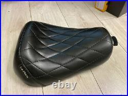 Le Pera Bare Bones Diamond Stitch Harley Sportster Black Seat LK 006 DM