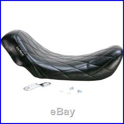 Le Pera Bare Bones Diamond Stitch Solo Seat 2006-17 Harley Dyna FXD FXDWG