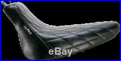 Le Pera Bare Bones Diamond Top-Grade Vinyl Solo Seat for Harley LXE-007 DM