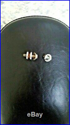Le Pera Bare Bones Gel Solo Seat & Pillion Pad Harley Davidson Softail Mint Cond