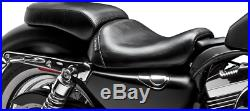 Le Pera Bare Bones Series Solo Seat with Smooth Pillion for Harley LF-006P