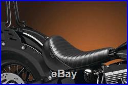 Le Pera Bare Bones Slim Pleated Blk Lsm-007pt Seats Rider Seat