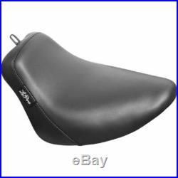 Le Pera Bare Bones Smooth Black Vinyl Solo Seat Harley 18+ Softail FLHC FLDE M8