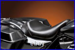 Le Pera Bare Bones Smooth Solo Vinyl Seat 2008+ Harley Touring Models LK-005