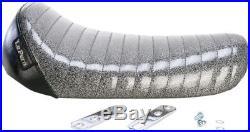 Le Pera Bare Bones Solo Seat Charcoal Pleated (L-006BKMFPT)