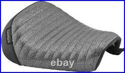 Le Pera Bare Bones Solo Seat LK-006CMPT Pleated Charcoal Metal Flake Vinyl