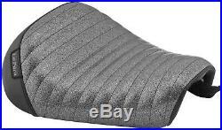 Le Pera Bare Bones Solo Seat Pleated Charcoal Metal Flake Vinyl LK-006CMPT