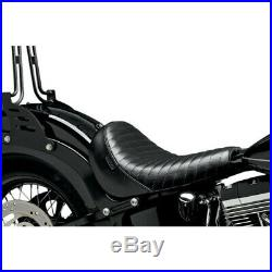 Le Pera Bare Bones Solo Seat Pleated Harley Davidson Softail Slim Blackline