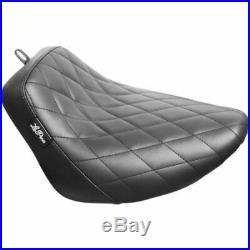 Le Pera Black Bare Bones Diamond Vinyl Solo Seat Harley FXBR FLFB M8 18+ Softail