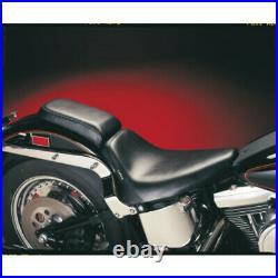 Le Pera Black Bare Bones Low Profile Solo Gel Driver Seat Harley Softail 84-99
