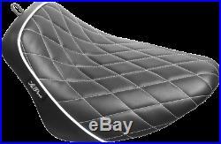 Le Pera Diamond Black White Bare Bones Solo Seat LY-007DMWTP