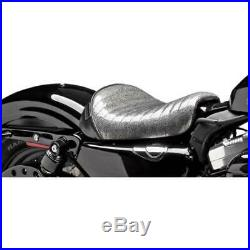 Le Pera LF-006BKMFPT Bare Bones Solo Seat Pleated Charcoal Metalflake