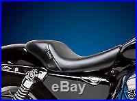 Le Pera LFK-006 Bare Bones Smooth Driver Solo Seat Harley XL 07-09 3.3 Tank