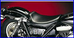 Le Pera LG-006 Smooth Black Bare Bones Driver Solo Seat withGel Harley XL 82-03