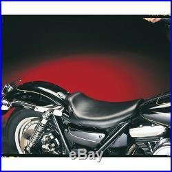 Le Pera LG-008 Smooth Black Bare Bones Solo Seat with Gel Harley FXR 82-00