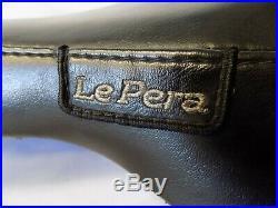 Le Pera LGX-007 Bare Bones Solo Seat & Pillion Biker Gel Vinyl -Harley Softail