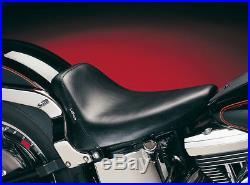 Le Pera LGX-007 Smooth Black Bare Bones Solo withGel Seat 00-05 FXST 00-07 FLST/N