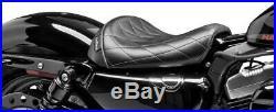 Le Pera LK-006 DM Diamond Stitch Bare Bones Solo Driver Seat Harley XL1200X/V