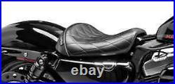 Le Pera LK-006 DM Diamond Stitch Bare Bones Solo Seat H-D Sportster 1200 XLV XLX