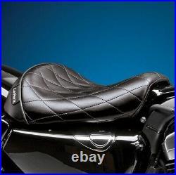 Le Pera LK-006DM Bare Bones Solo Seat, Diamond Vinyl Harley-Davidson Sport