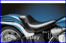 Le Pera LK-007 Smooth Bare Bones Solo Seat Harley Softail 06-10 FXST 07-17 FLSTF