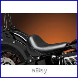 Le Pera LKS-007 Smooth Black Bare Bones Solo Seat Harley Softail FXS & FLS