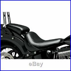 Le Pera LKS-007P Black Smooth Bare Bones Pillion Rear Seat Softail FLS FXS