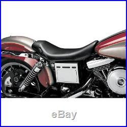 Le Pera LN-001 Smooth Black Vinyl Bare Bones Solo Seat Harley 96-03 Dyna FXD