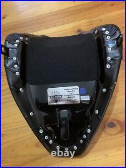 Le Pera LN-007 Smooth Black Stitch Bare Bones Solo Seat 84-99 Softail