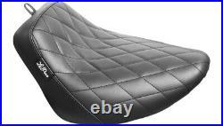 Le Pera LY-007DM Black Bare Bones Solo Seat Diamond Harley M8 Softail 18-21