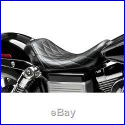 Le Pera Lepera Bare Bones Barebones Diamond Stitch Solo Seat 06-17 Harley Dyna