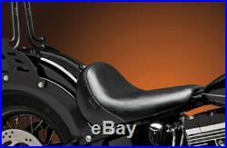 Le Pera Lepera Bare Bones Black Smooth Solo Seat Harley Softail Slim Blackline