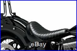 Le Pera Pleated Bare Bones Solo Seat Harley 12-14 Softail Slim 11-14 Blackline