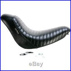 Le Pera Pleated Black Bare Bones Solo Seat Harley FXST 06-10 FLSTF 07-17