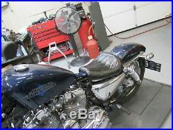 Le Pera Solo Seat Diamond Pleated Bare Bones Sportster Xl1200 X V Driver 2010 19
