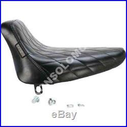 Sella Seats Le Pera Bare Bones Diamond stitch solo seat Harley D. FXST/FLST